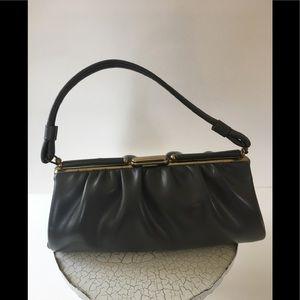 Vintage Mini  Gray Leather Dr. Bag